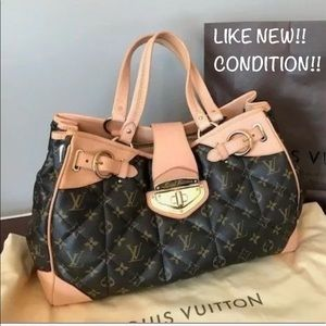 🚨DISCONTINUED 🚨XLARGE quilted LOUIS VUITTON tote